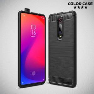 Carbon Силиконовый матовый чехол для Xiaomi Mi 9T - Черный