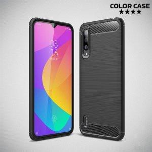 Carbon Силиконовый матовый чехол для Xiaomi Mi 9 lite - Черный