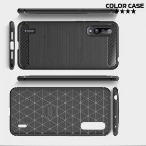 Carbon Силиконовый матовый чехол для Xiaomi Mi CC9 - Черный
