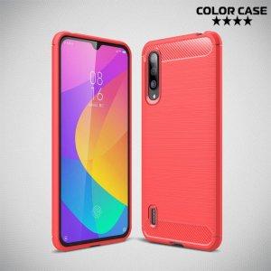 Carbon Силиконовый матовый чехол для Xiaomi Mi 9 lite - Коралловый