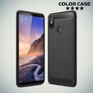Carbon Силиконовый матовый чехол для Xiaomi Mi Max 3 - Черный