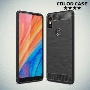 Carbon Силиконовый матовый чехол для Xiaomi Mi Mix 2s - Черный