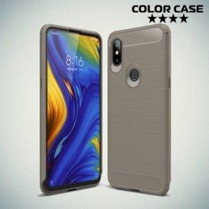 Carbon Силиконовый матовый чехол для Xiaomi Mi Mix 3 - Серый