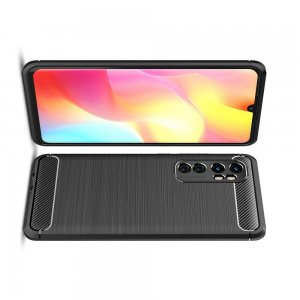 Carbon Силиконовый матовый чехол для Xiaomi Mi Note 10 Lite - Черный