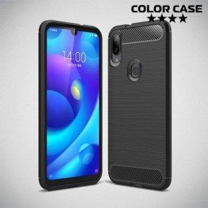 Carbon Силиконовый матовый чехол для Xiaomi Mi Play - Черный