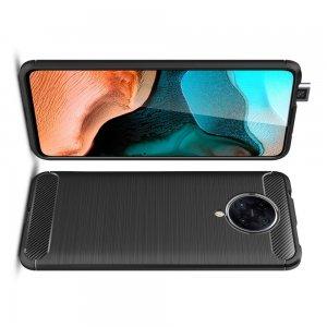 Carbon Силиконовый матовый чехол для Xiaomi Poco F2 Pro - Черный