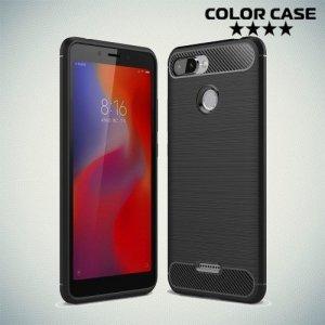 Carbon Силиконовый матовый чехол для Xiaomi Redmi 6 - Черный
