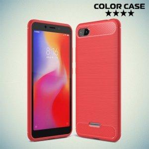 Carbon Силиконовый матовый чехол для Xiaomi Redmi 6a - Коралловый
