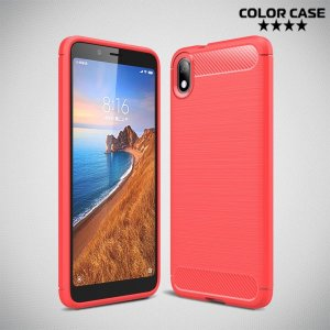 Carbon Силиконовый матовый чехол для Xiaomi Redmi 7A - Коралловый