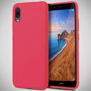 Carbon Силиконовый матовый чехол для Xiaomi Redmi 7A - Красный цвет