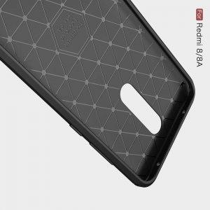 Carbon Силиконовый матовый чехол для Xiaomi Redmi 8A / Redmi 8 - Черный