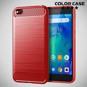 Carbon Силиконовый матовый чехол для Xiaomi Redmi Go - Коралловый