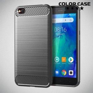 Carbon Силиконовый матовый чехол для Xiaomi Redmi Go - Серый