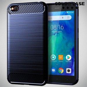 Carbon Силиконовый матовый чехол для Xiaomi Redmi Go - Синий