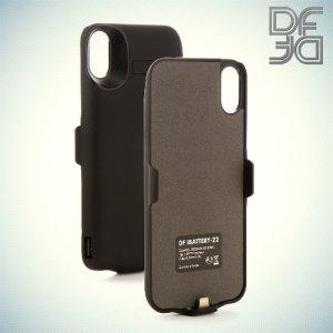 Чехол аккумулятор для Apple iPhone X DF iBattery-22 - Черный