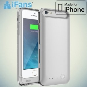 Чехол аккумулятор для iPhone 6S / 6 IFANS 3100mAh - Серебряный