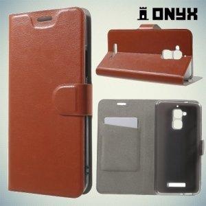 Чехол флип книжка для Asus ZenFone 3 Max ZC520TL  - Коричневый