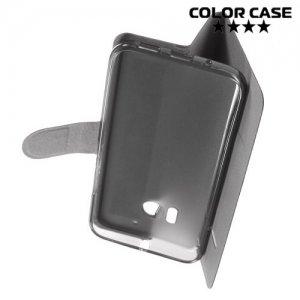 Чехол флип книжка для HTC 10 - Черный