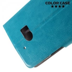 Чехол флип книжка для HTC 10 - Голубой