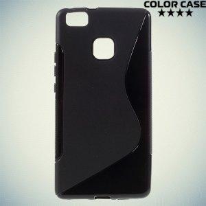 Силиконовый чехол для Huawei P9 lite - S-образный Черный