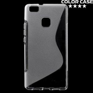 Силиконовый чехол для Huawei P9 lite - S-образный Прозрачный