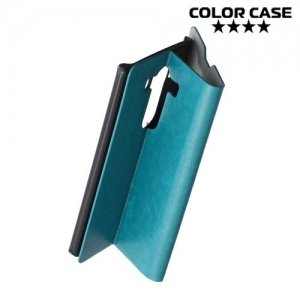 Чехол флип книжка для LG V10 - Голубой