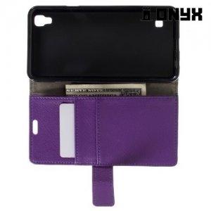 Чехол флип книжка для LG X Style K200DS - Фиолетовый