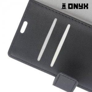 Чехол флип книжка для LG X view - Черный