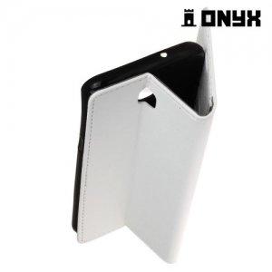 Чехол флип книжка для LG X view - Белый