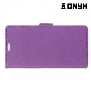 Чехол флип книжка для LG X view - Фиолетовый