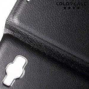 Чехол флип книжка для Samsung Galaxy J1 2016 SM-J120F - Черный