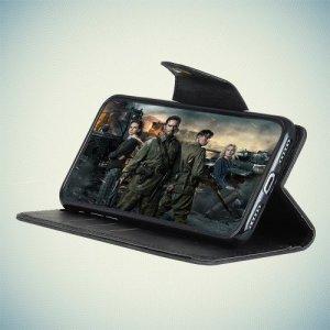 Чехол флип книжка для Samsung Galaxy J8 2018 - Черный