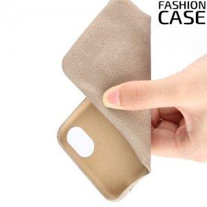 Чехол кейс обтянутый эко-кожей для iPhone 8/7 - Миндальный цвет