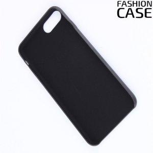 Чехол кейс обтянутый эко-кожей для iPhone 8 Plus / 7 Plus - Черный