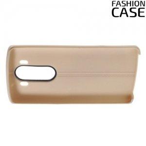 Чехол кейс под кожу для LG V10 - Золотой