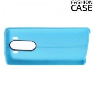 Чехол кейс под кожу для LG V10 - Голубой