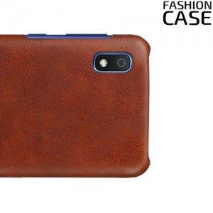 Чехол кейс под кожу для Samsung Galaxy A10 - Коричневый