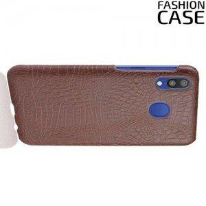 Чехол кейс под кожу для Samsung Galaxy A20e - Коричневый
