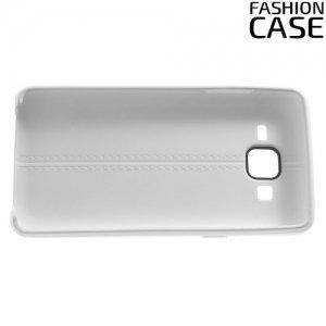 Чехол кейс под кожу для Samsung Galaxy On5 - Белый