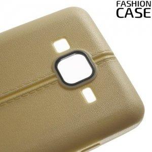 Чехол кейс под кожу для Samsung Galaxy On5 - Золотой
