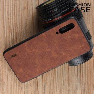 Чехол кейс под кожу для Xiaomi Mi A3 - Коричневый