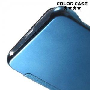 Чехол книжка ColorCase с функцией Clear View Cover для Samsung Galaxy S6 Edge Plus - Синий