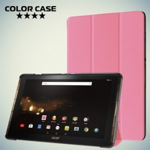 Чехол книжка для Acer Iconia Tab 10 A3-A40 - Розовый