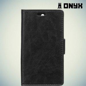 Чехол книжка для Acer Liquid Z330 - Черный