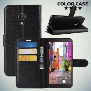Чехол книжка для Alcatel 1C 5009D Dual Sim - Черный