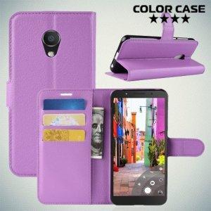 Чехол книжка для Alcatel 1C 5009D Dual Sim - Фиолетовый