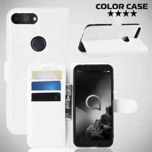 Чехол книжка для Alcatel 1S 2019 5024D - Белый