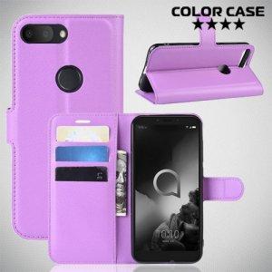 Чехол книжка для Alcatel 1S 2019 5024D - Фиолетовый