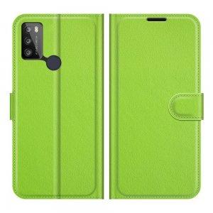 Чехол книжка для Alcatel 1S (2021)/3L (2021) отделения для карт и подставка Зеленый