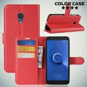 Чехол книжка для Alcatel 1X - Красный